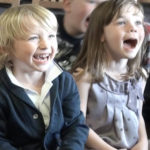 Children laughing at derbyshire children's entertainer