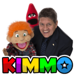 Party entertainer. Magician and Ventriloquist Kimmo with Charlie and Red Crayon