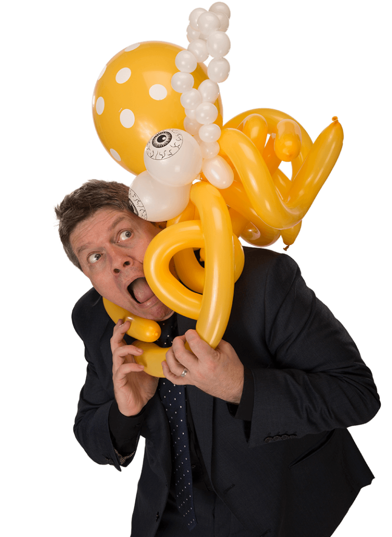 Kimmo with a balloon octopus