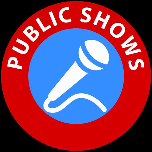 Children's entertainer public shows icon