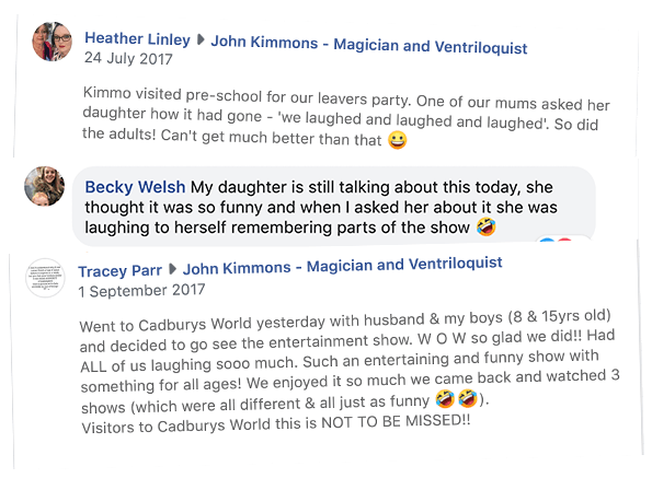 Children's entertainer Rotherham Facebook Reviews