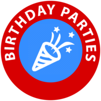 Birthday parties icon for children's entertainer services