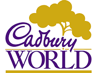 Cadbury world logo, one of sheffield children's entertainer Kimmo's clients
